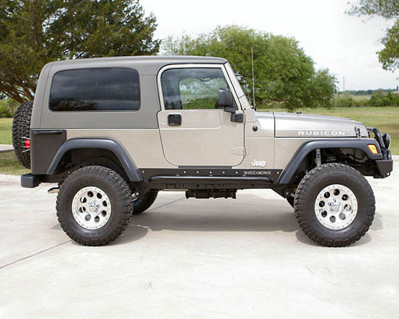 ShrockWorks JLJW1-ROKS-01 Rock Sliders Jeep Wrangler CJ | YJ | TJ 76-06