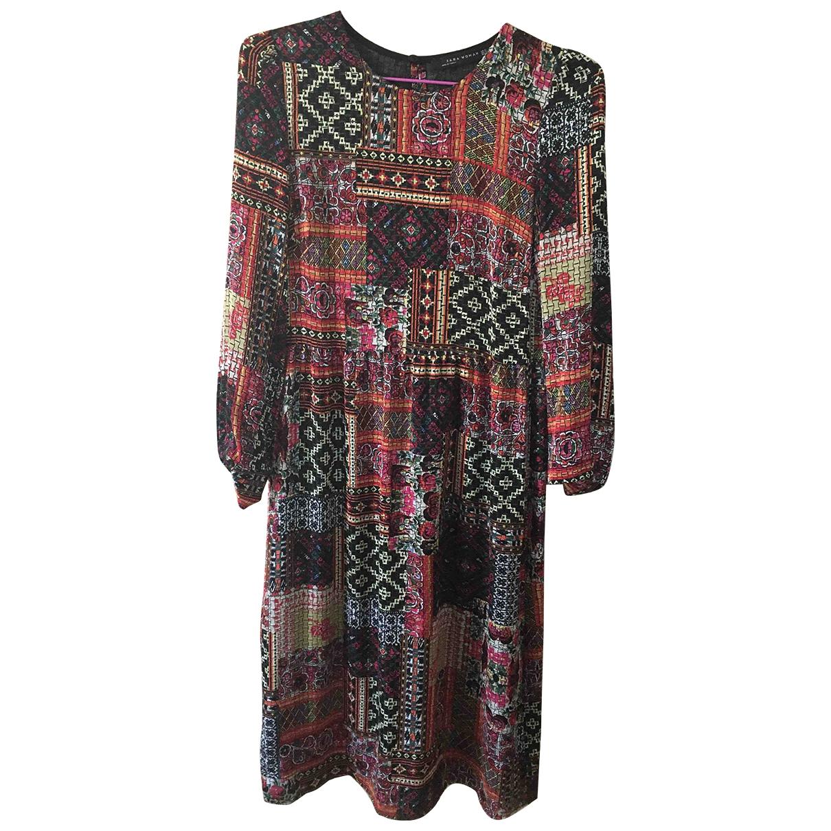 Zara - Robe   pour femme - multicolore