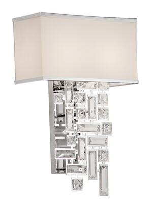 Vermeer 11190-010-SE001 2-Light Wall Bracket in Chrome Finish with Swarovski Elements Clear