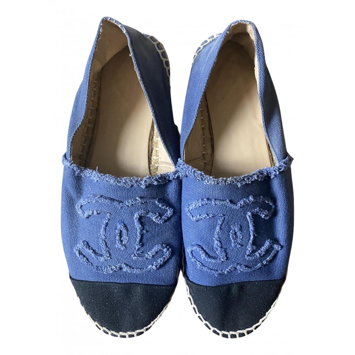 Chanel \N Espadrilles in  Blau Leinen