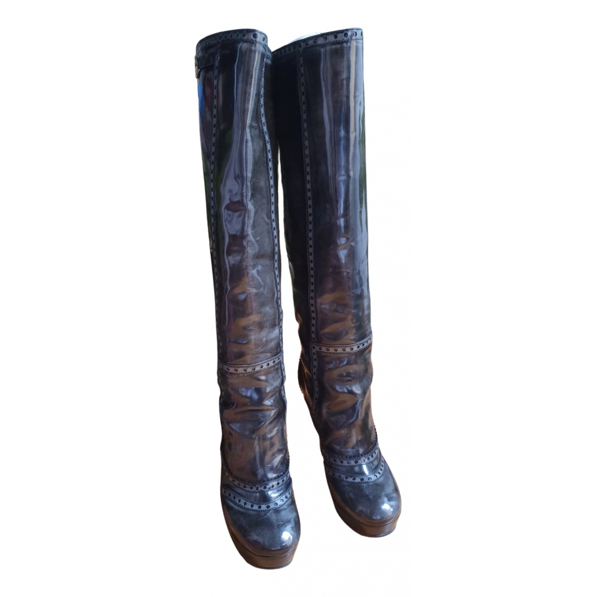Gucci N Black Patent leather Boots for Women 37 EU