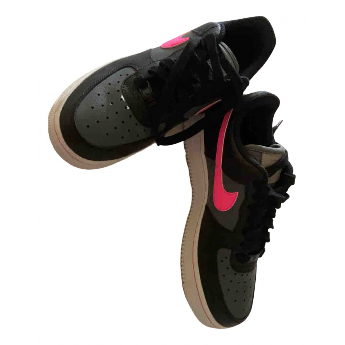 Nike Air Force 1 Black Leather Trainers for Women 36.5 EU
