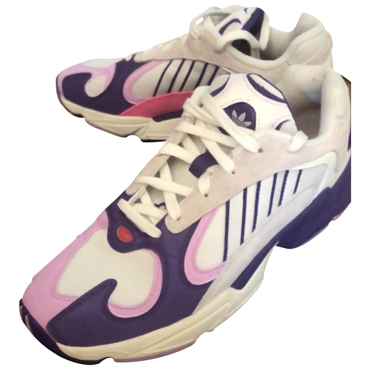 Adidas - Baskets   pour homme en cuir - violet