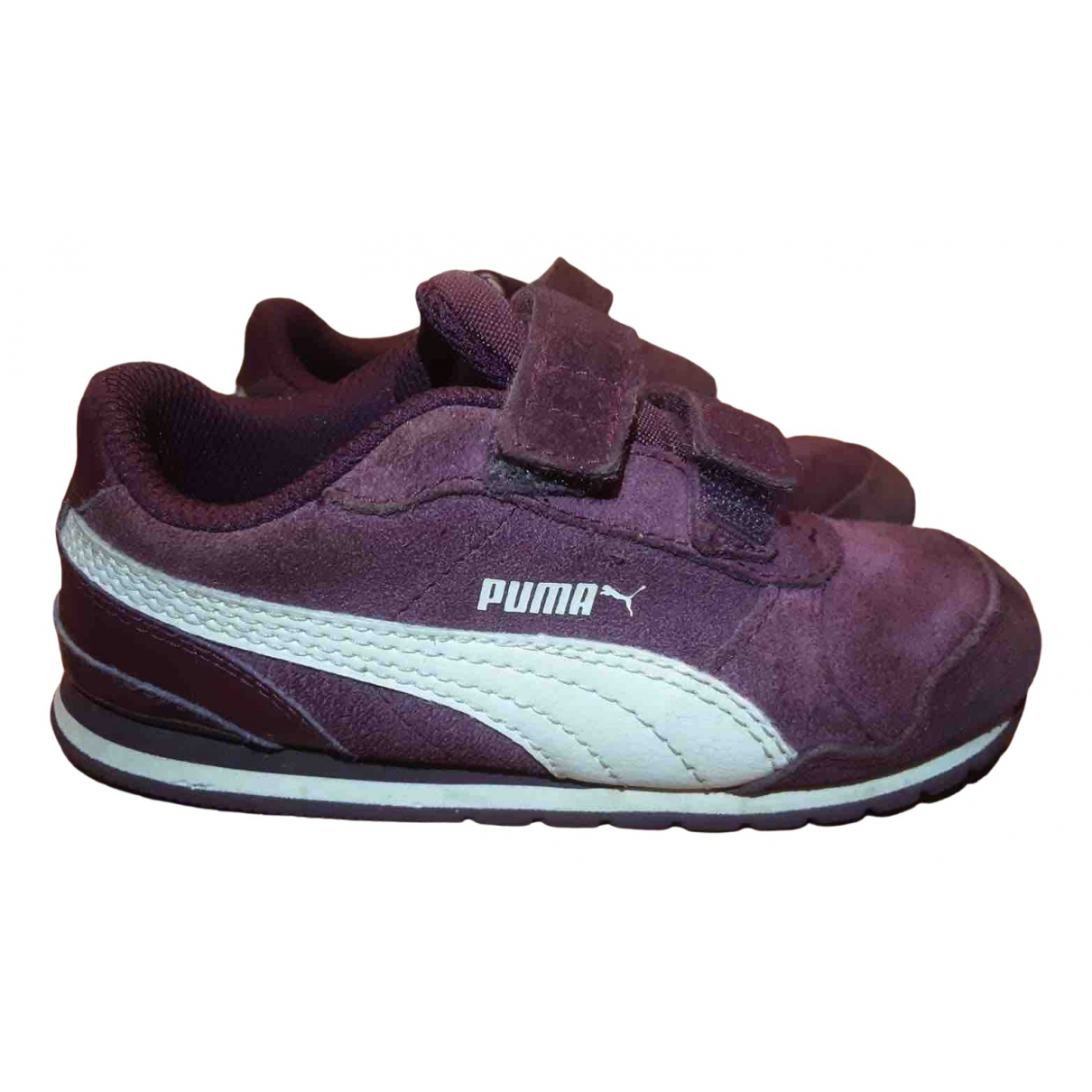 Puma - Baskets   pour enfant en suede - bordeaux