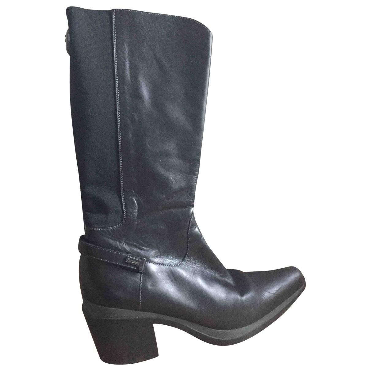 Cesare Paciotti \N Black Leather Boots for Women 41 EU