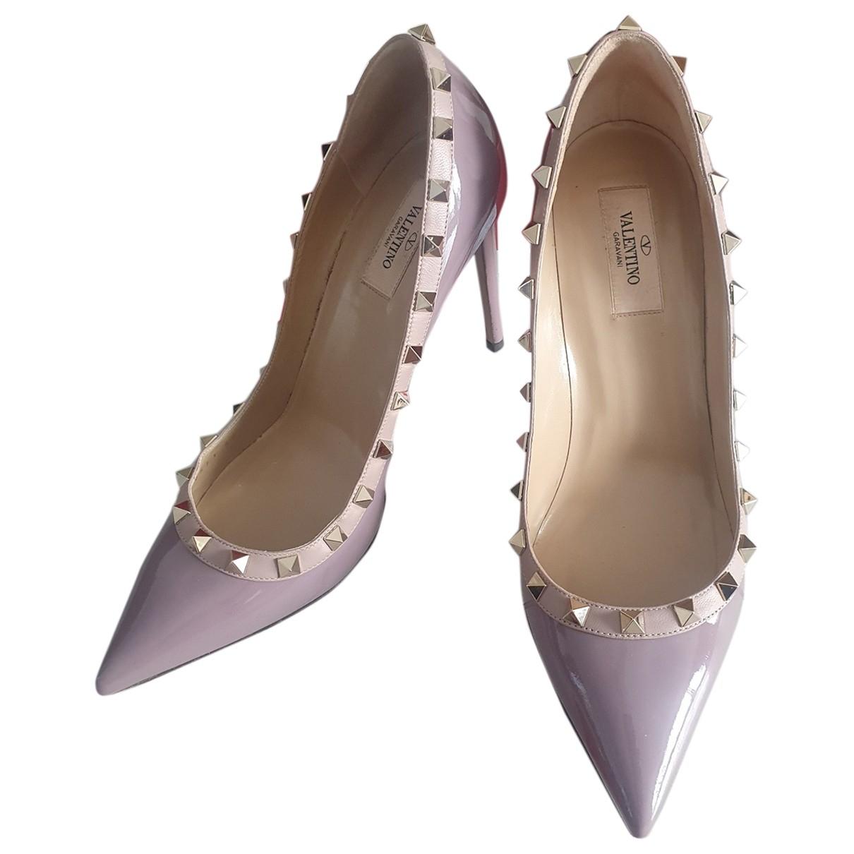 Valentino Garavani - Escarpins Rockstud pour femme en cuir - violet