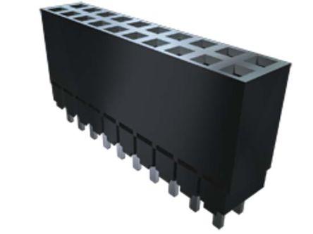 Samtec , ESW 2.54mm Pitch 5 Way 2 Row Vertical PCB Socket, Through Hole, Solder Termination