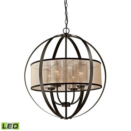 57029/4-LED Diffusion 4-Light Chandelier in Oil Rubbed Bronze - Includes LED