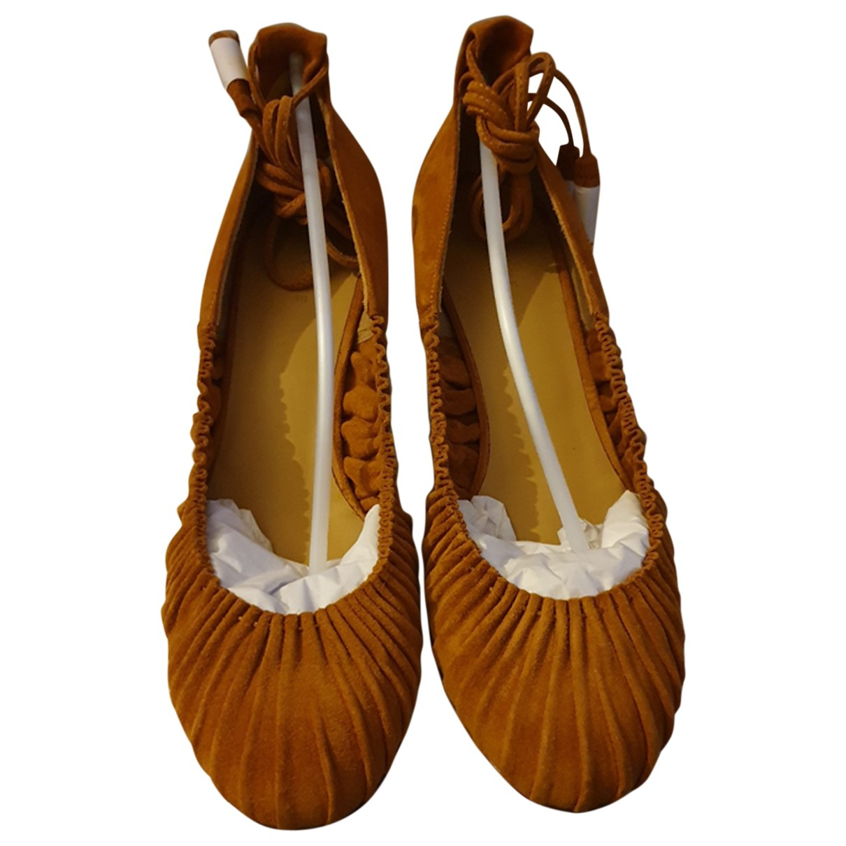 Sézane N Camel Leather Heels for Women 40 EU