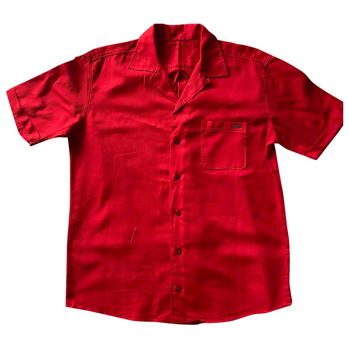 Versus - Chemises   pour homme en coton - rouge