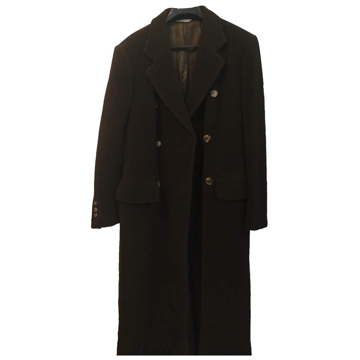 Non Signé / Unsigned \N Khaki Wool coat for Women 44 IT