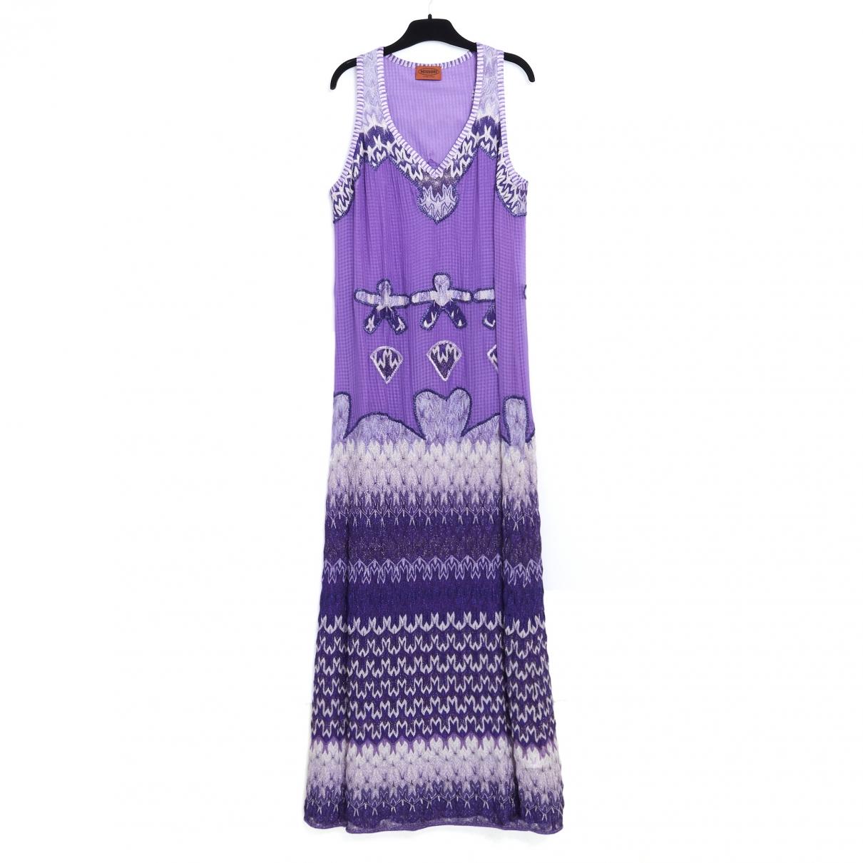 Missoni \N Kleid in  Lila Viskose