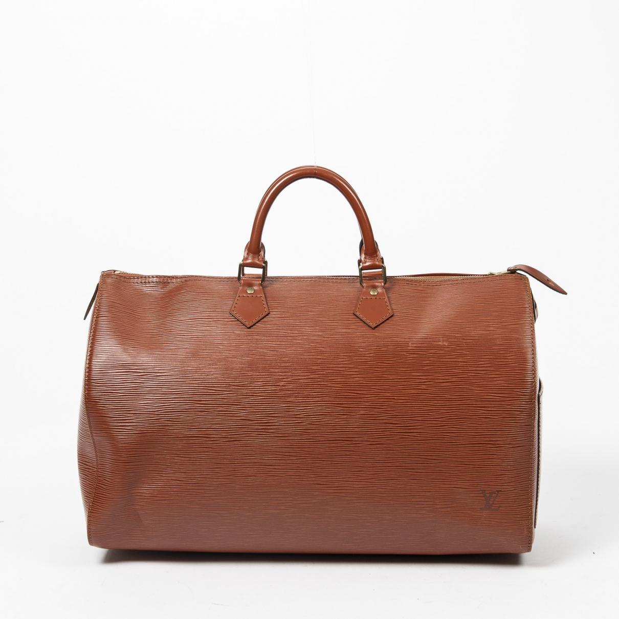 Louis Vuitton \N Reisetasche in  Khaki Leder