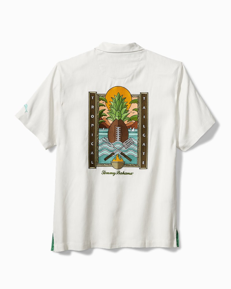 NFL Tropical Tailgate Silk Camp Shirt