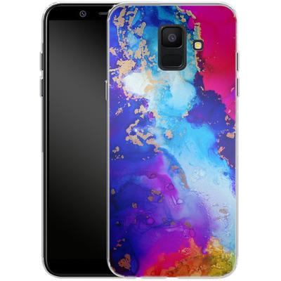 Samsung Galaxy A6 Silikon Handyhuelle - Cosmic Swirl II von Stella Lightheart