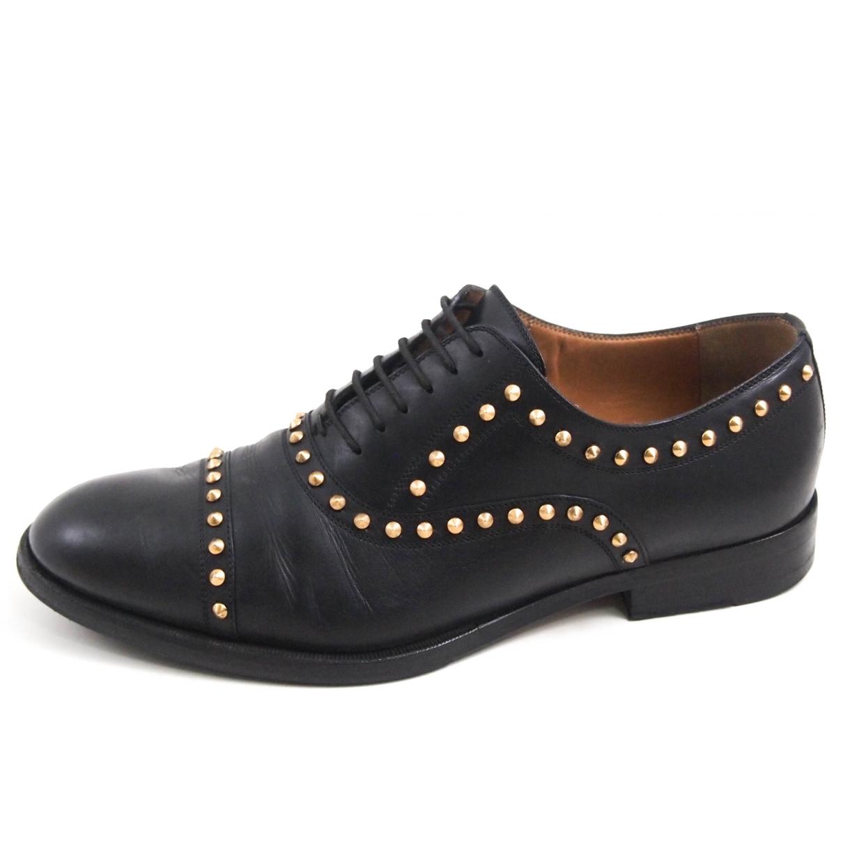Gucci - Derbies   pour homme en cuir - noir