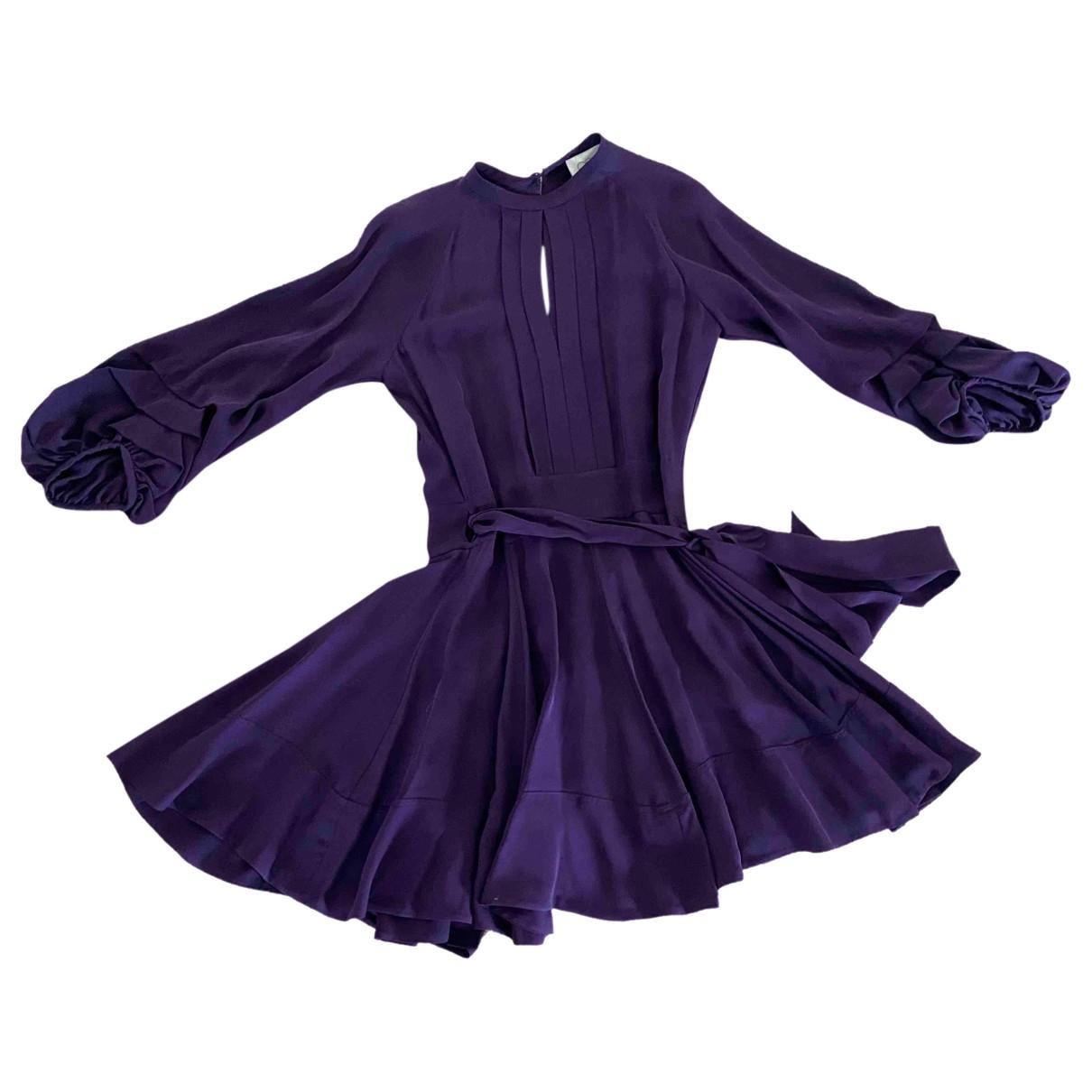 Ossie Clark - Robe   pour femme en soie - violet
