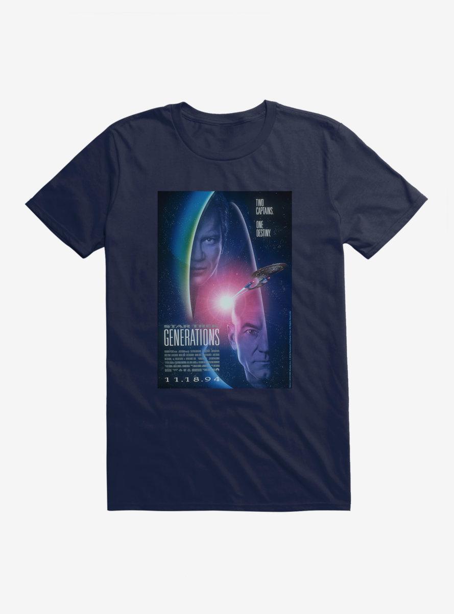Star Trek Generations Two Captains One Destiny T-Shirt