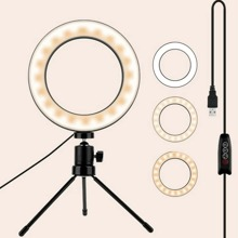 1pc Ring Fill Light With Stand