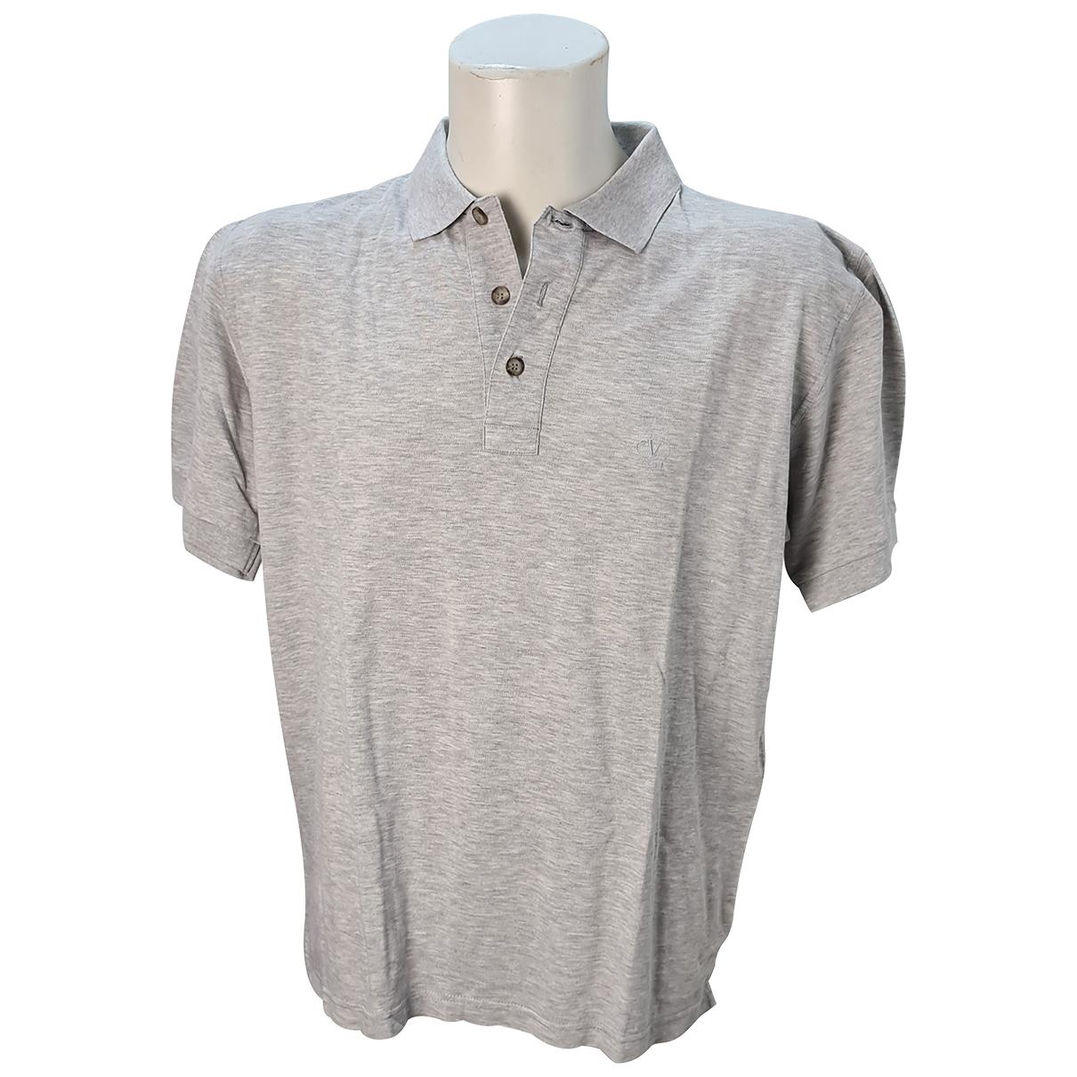 Valentino Garavani - Polos   pour homme en coton - gris
