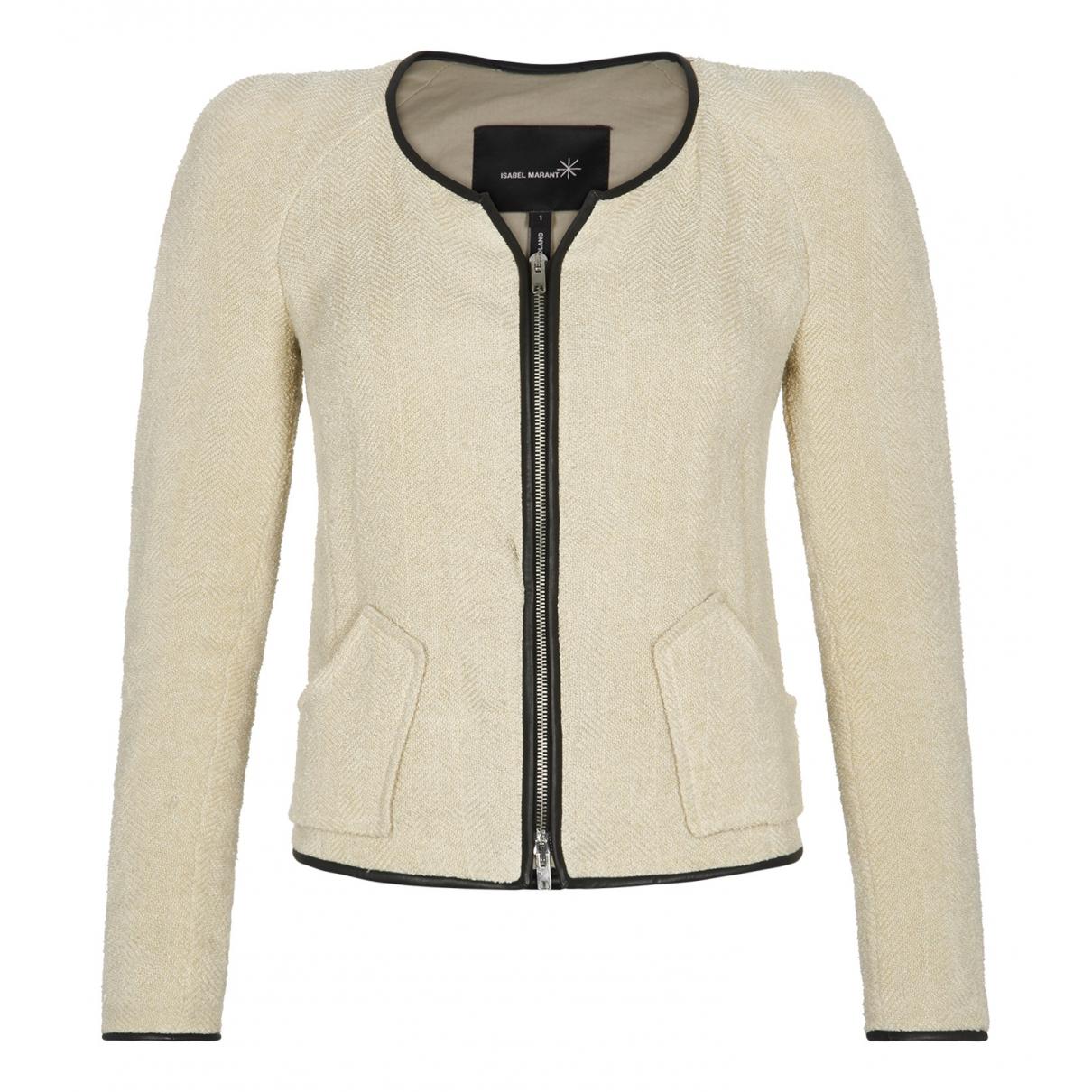 Isabel Marant N Beige Linen jacket for Women 10 UK