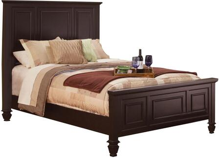 Sandy Beach Collection 201991KW California King Size Panel Bed with High Headboard  Low Profile  Paneled Details  Turned Legs and Maple Veneer