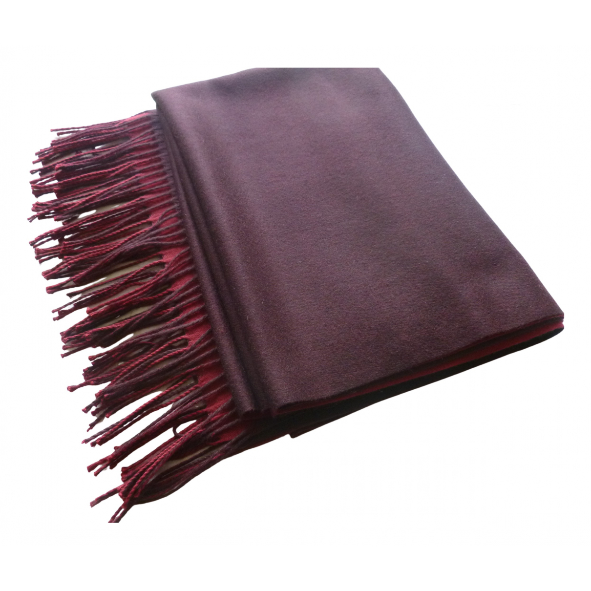 Non Signé / Unsigned \N Burgundy Cashmere scarf for Women \N