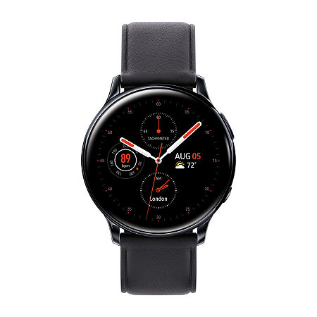 Samsung Galaxy Active 2 LTE Mens Black Leather Smart Watch-Sm-R835uskaxar, One Size , No Color Family