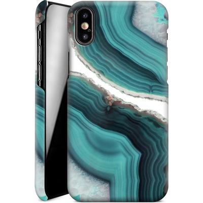 Apple iPhone X Smartphone Huelle - Sea Agate von Emanuela Carratoni