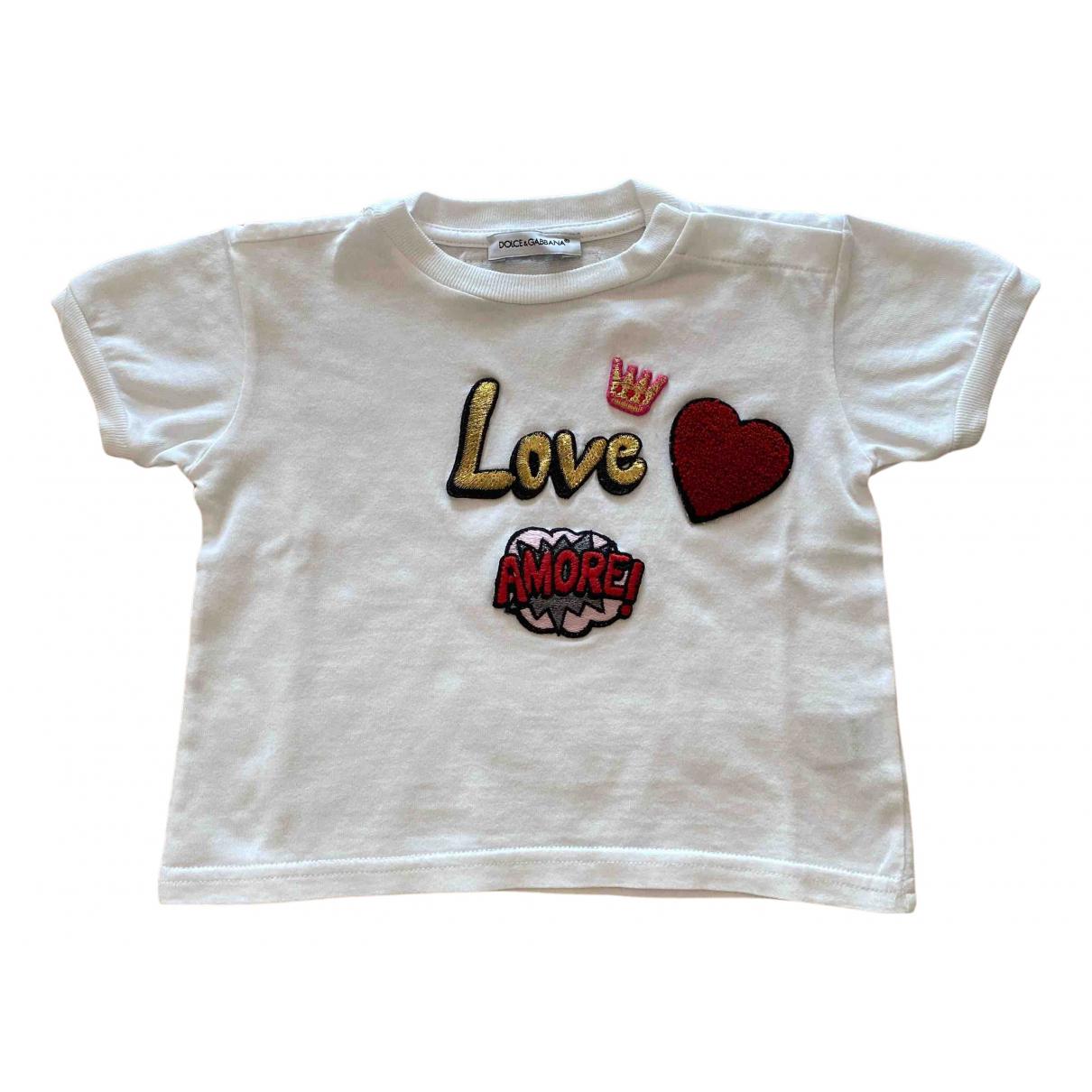 Dolce & Gabbana - Top   pour enfant en coton - blanc
