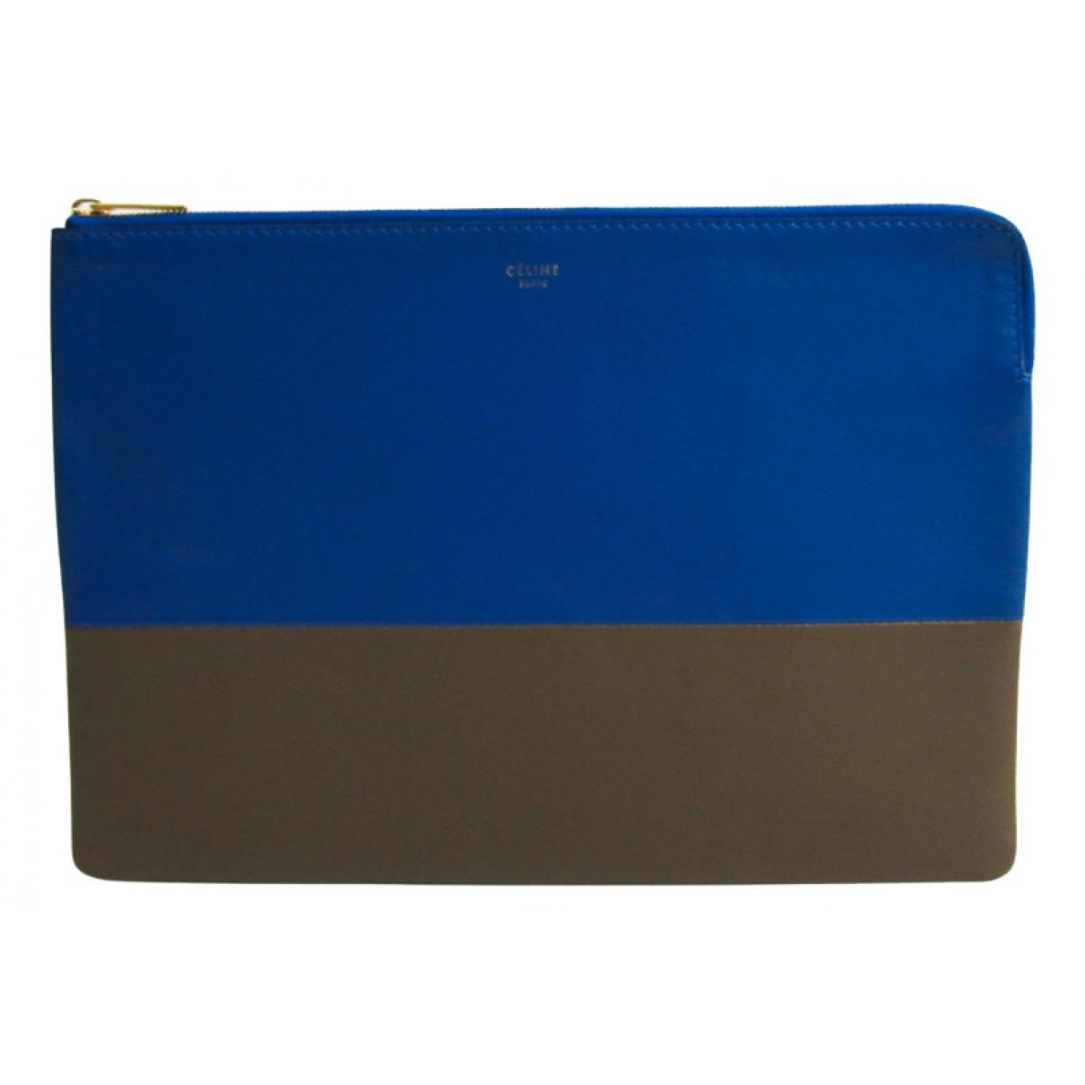 Celine \N Clutch in  Blau Leder