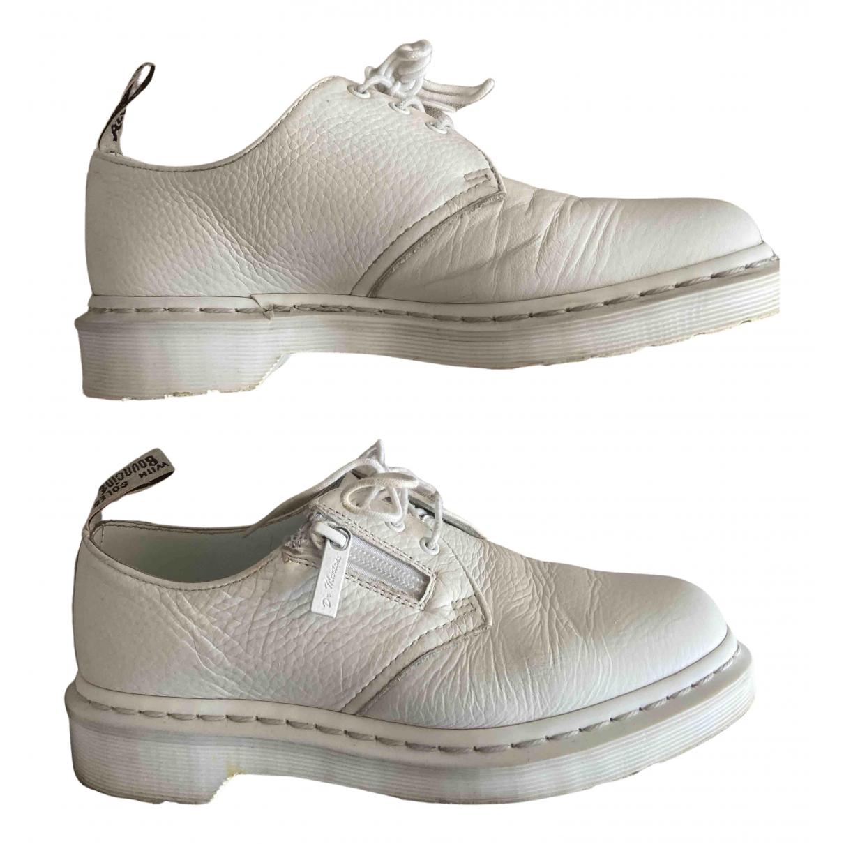 Dr. Martens - Derbies   pour femme en cuir - blanc