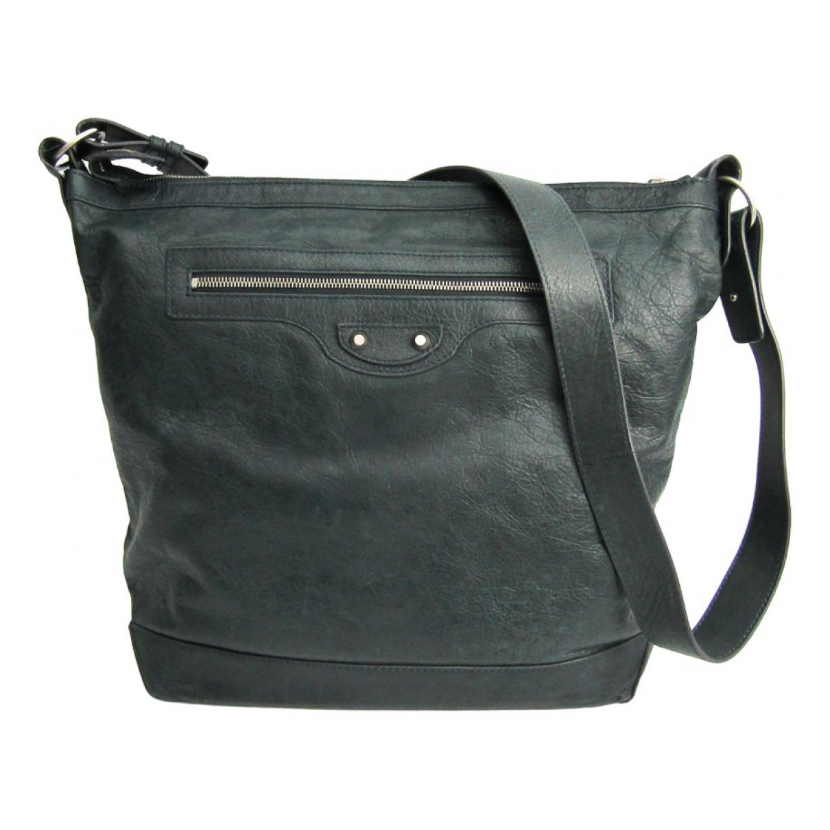 Balenciaga Day  Handtasche in  Grau Leder