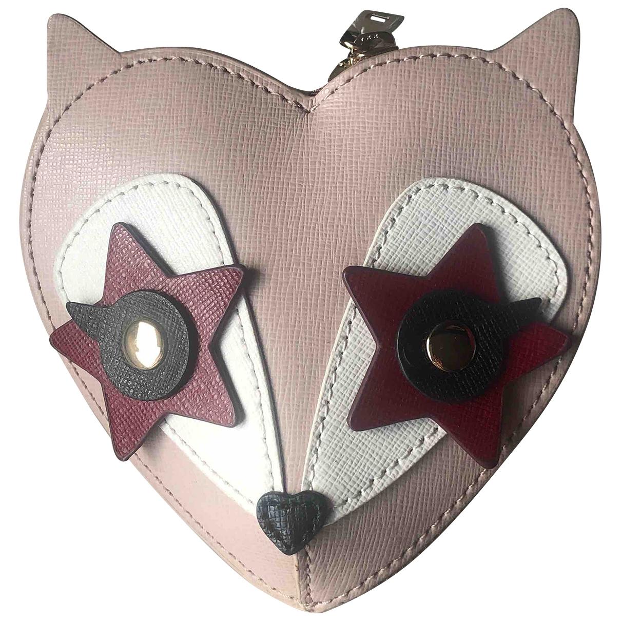 Furla - Petite maroquinerie   pour femme en cuir - rose