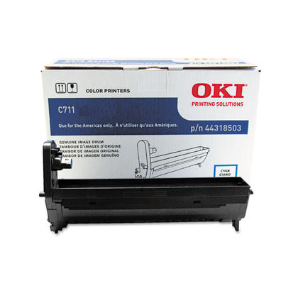 Okidata 44318503 Type C16 Original Cyan Drum for C711 Printer