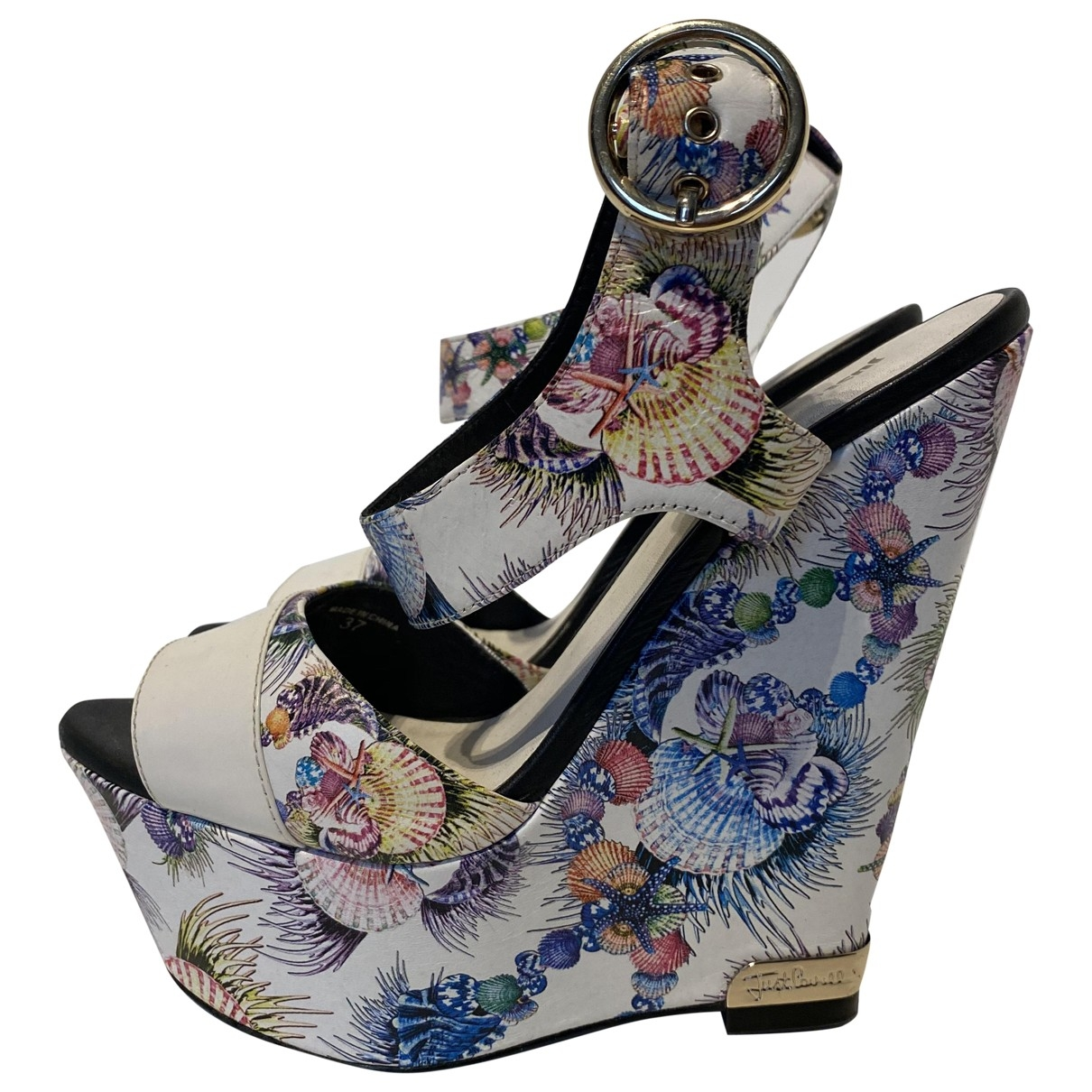 Just Cavalli \N White Leather Sandals for Women 37 EU