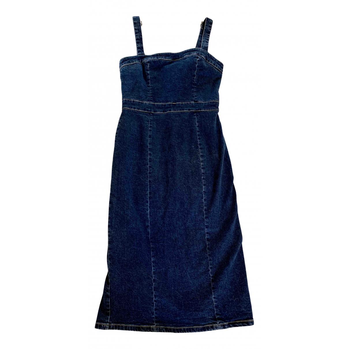 Non Signe / Unsigned \N Kleid in  Marine Denim - Jeans