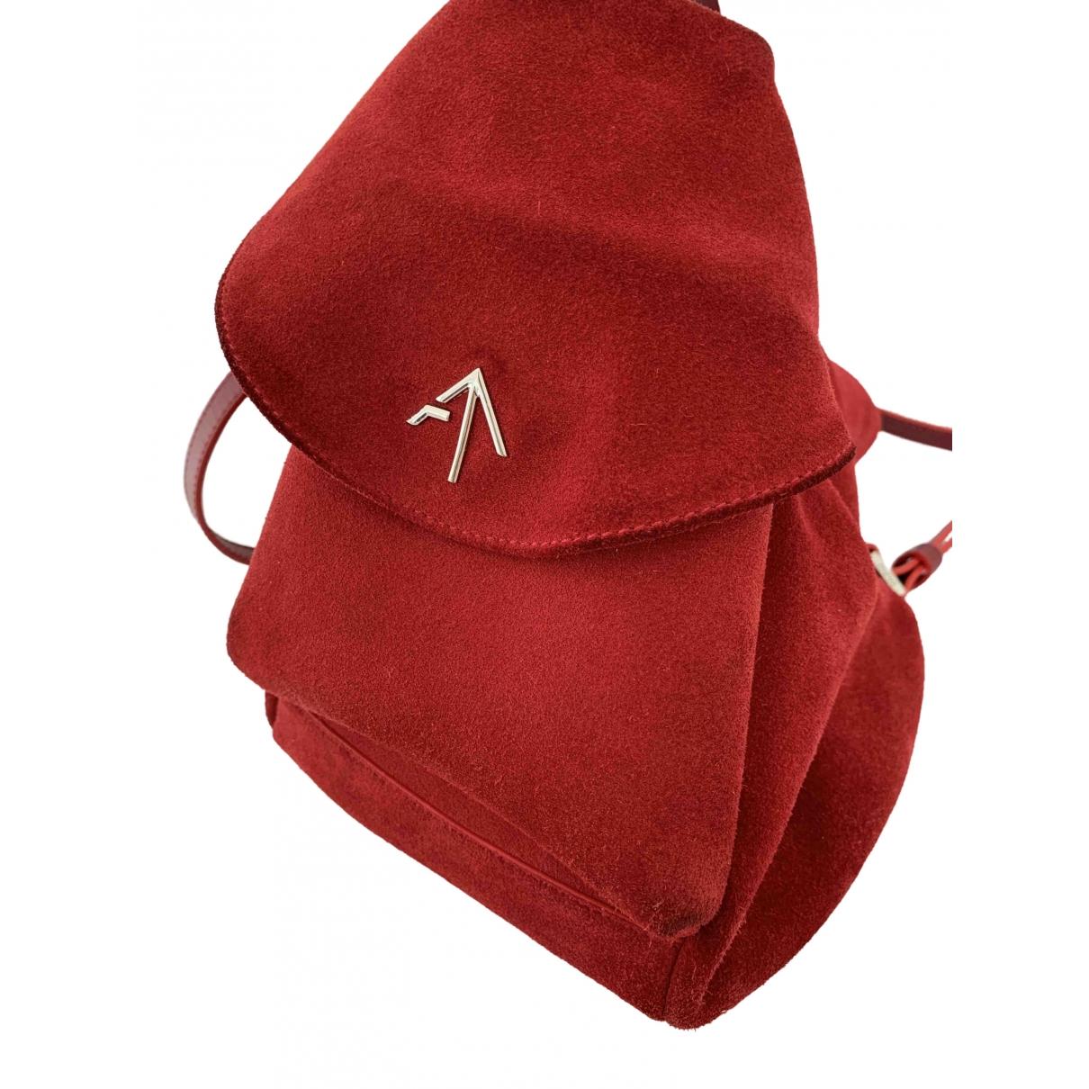 Manu Atelier \N Red Suede backpack for Women \N