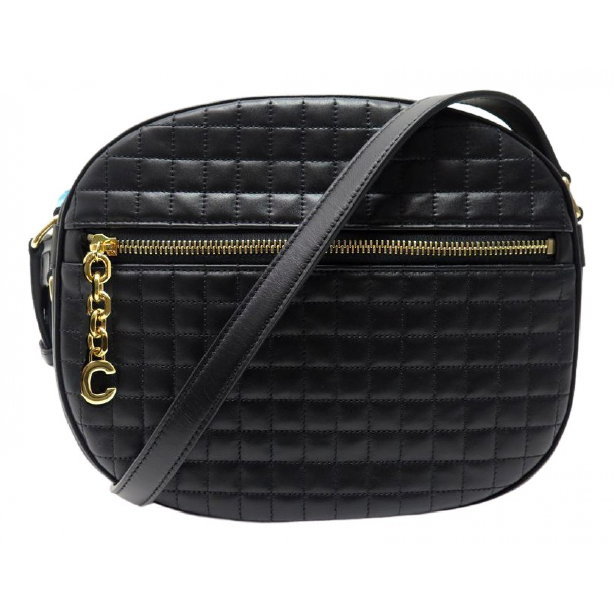 Celine C charm Black Leather handbag for Women \N