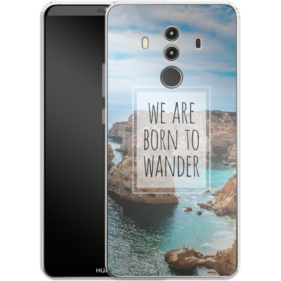 Huawei Mate 10 Pro Silikon Handyhuelle - Born to Wander von Joel Perroden