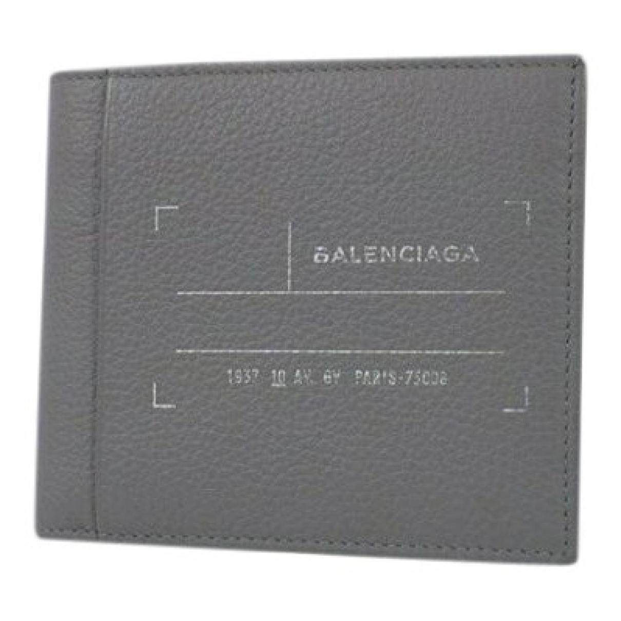 Balenciaga - Petite maroquinerie   pour homme en cuir - gris