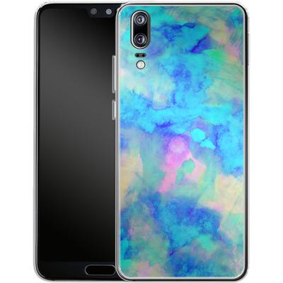 Huawei P20 Silikon Handyhuelle - Electrify Ice Blue von Amy Sia