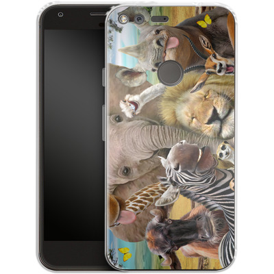 Google Pixel XL Silikon Handyhuelle - Africa Selfie von Howard Robinson