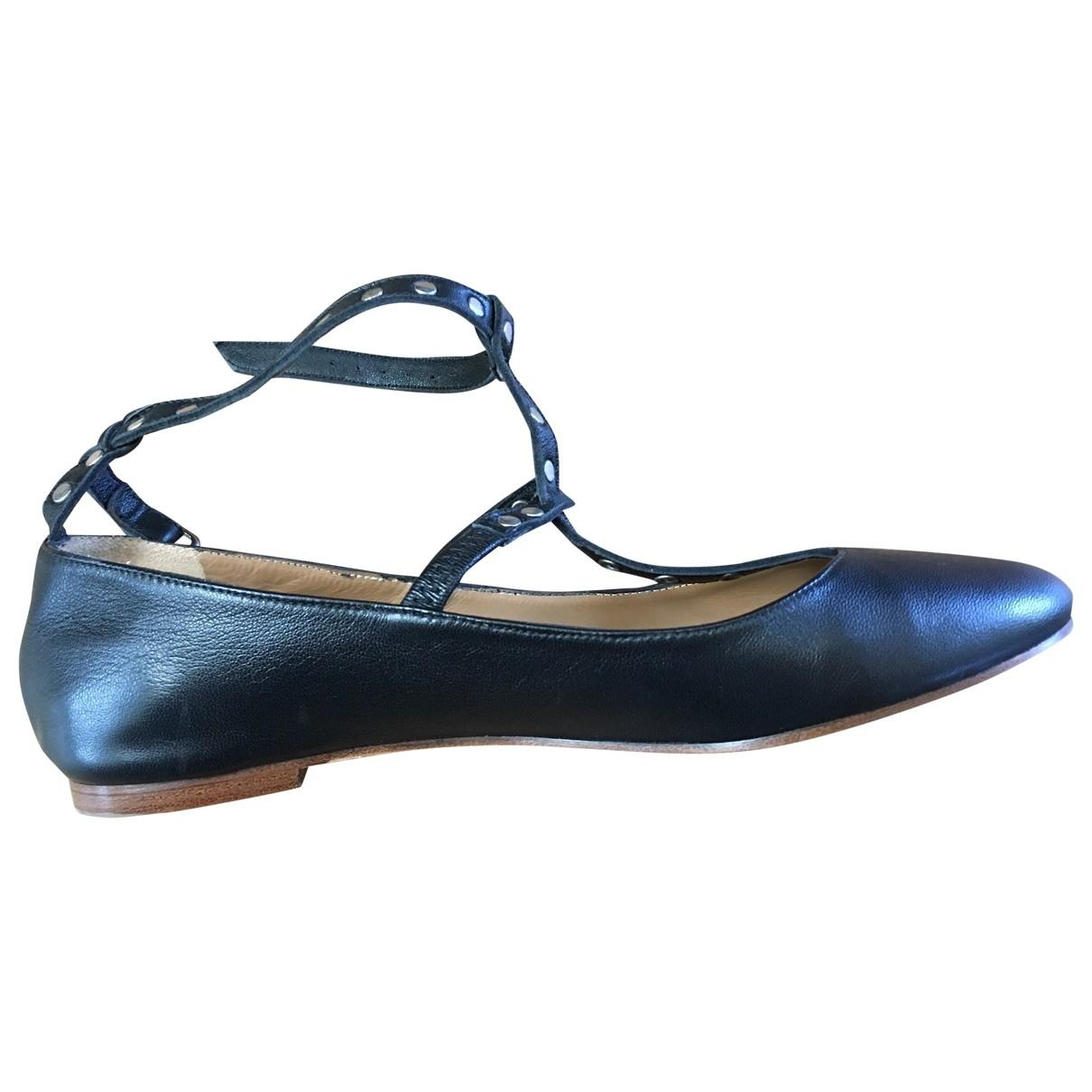 Masscob - Ballerines   pour femme en cuir - noir