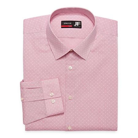 JF J.Ferrar - Slim Mens Spread Collar Long Sleeve Stretch Dress Shirt, 15-15.5 34-35, Pink