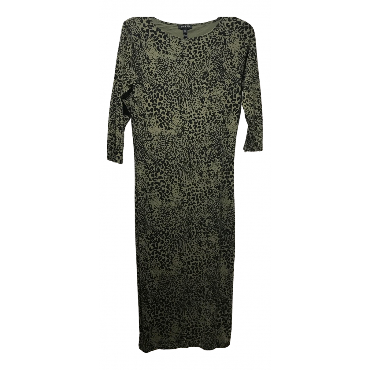 Baukjen \N Kleid in  Khaki Viskose