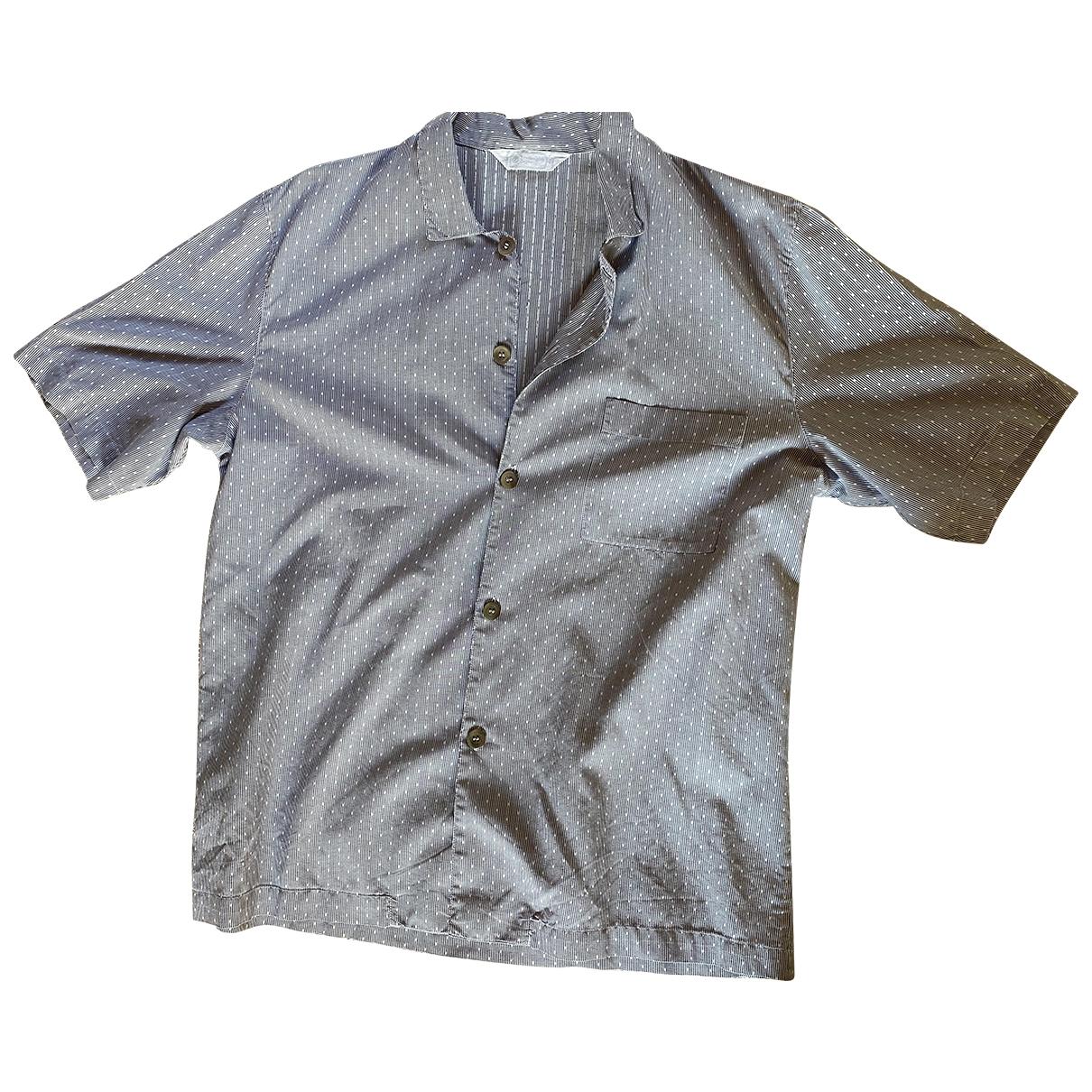 Ermenegildo Zegna \N Blue Cotton Shirts for Men 40 EU (tour de cou / collar)