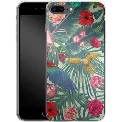 Apple iPhone 8 Plus Silikon Handyhuelle - Tropic Fun von Mark Ashkenazi