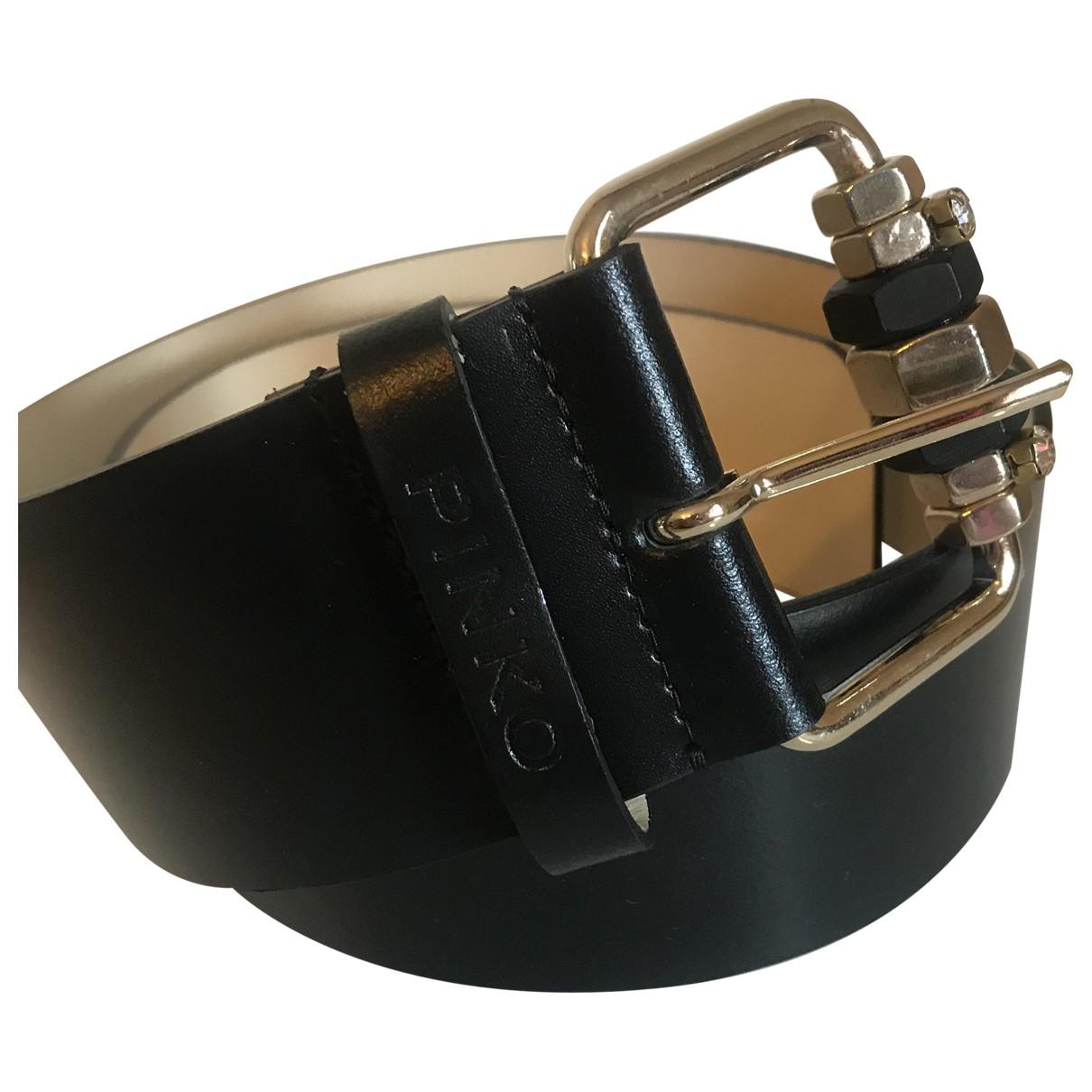 Pinko \N Guertel in  Schwarz Leder