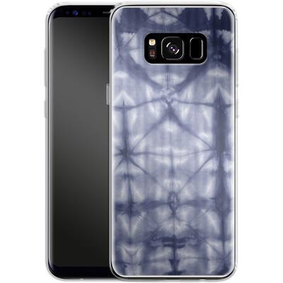 Samsung Galaxy S8 Silikon Handyhuelle - Tie Dye 2 Navy von Amy Sia
